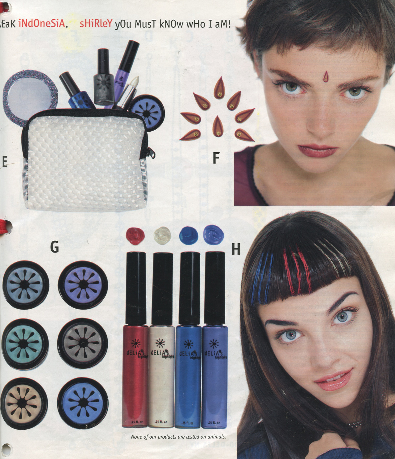 Colorful beautytrends from the 90s