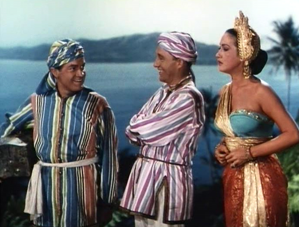 Bob Hope Bing Crosby Dorothy Lamour in Road to Bali 1940s