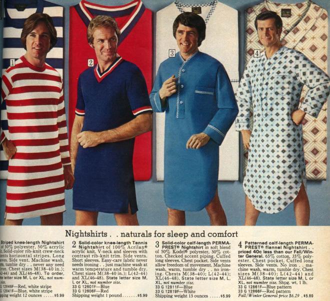 Men's fashion ad 1970s