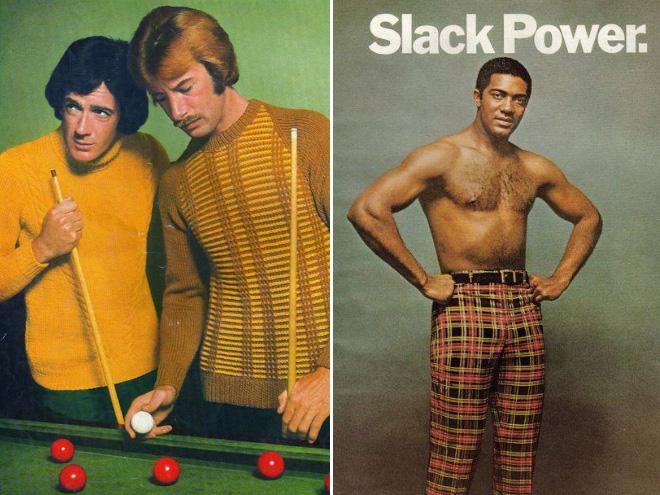 Men's fashion 70s ad