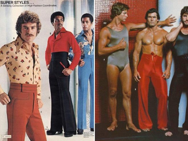 Men's 1970s fashion ad