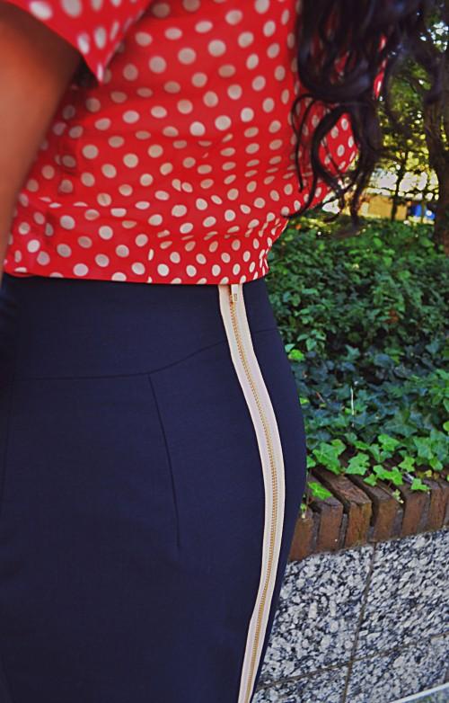 Tubino julietta navy skirt kokerrok