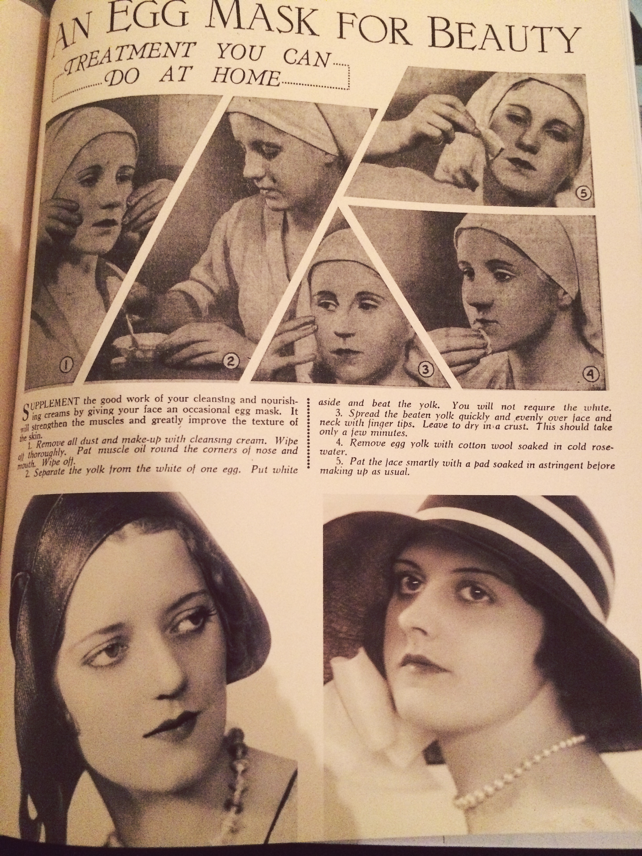 1930s beauty tips