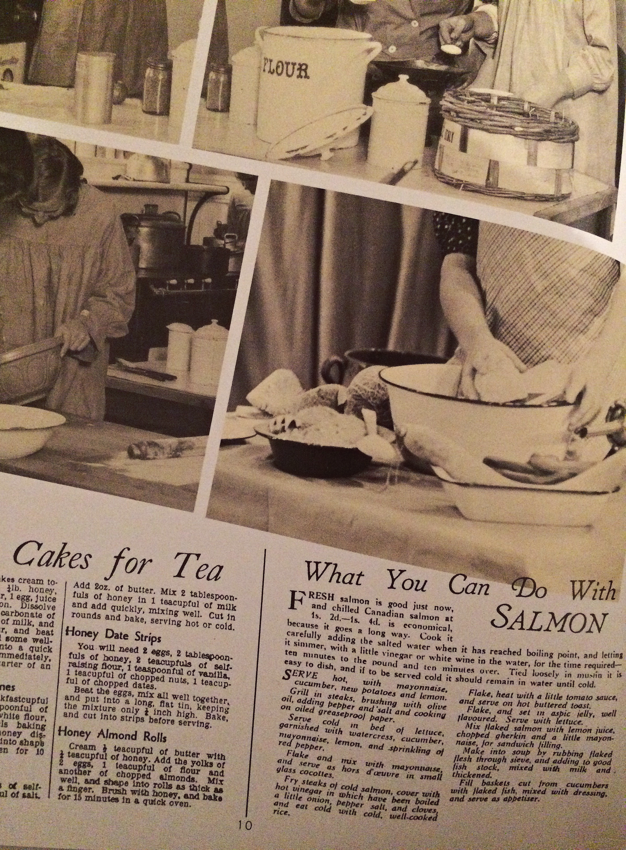 vintage salmon food recipes