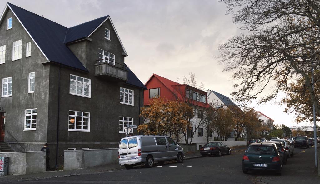 Colorful cottages Reykjavik - Iceland travel trip