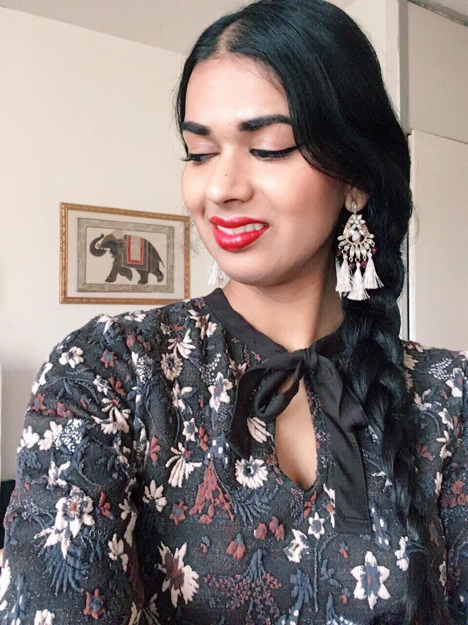 Oriental Spice Modern Vintage Blogger tassel earrings H&M oriental pinup