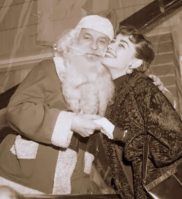 Picture Audrey Hepburn with Santa