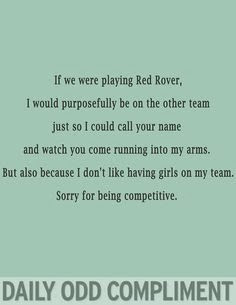 Red rover competitive daily odd compliment
