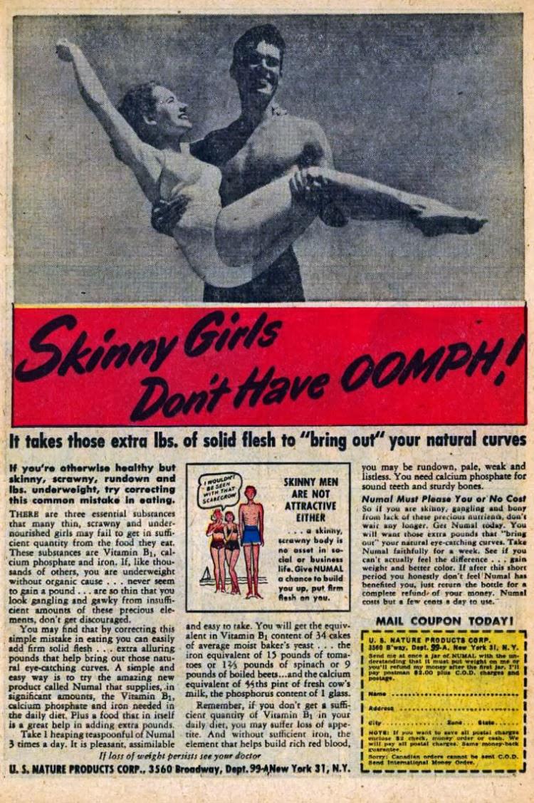 vintage gain weight ads