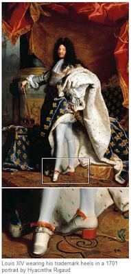 heeled shoe Louis XIV