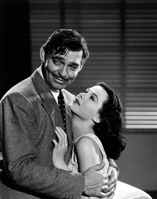 Hedy Lamarr with Clark Gable 1940