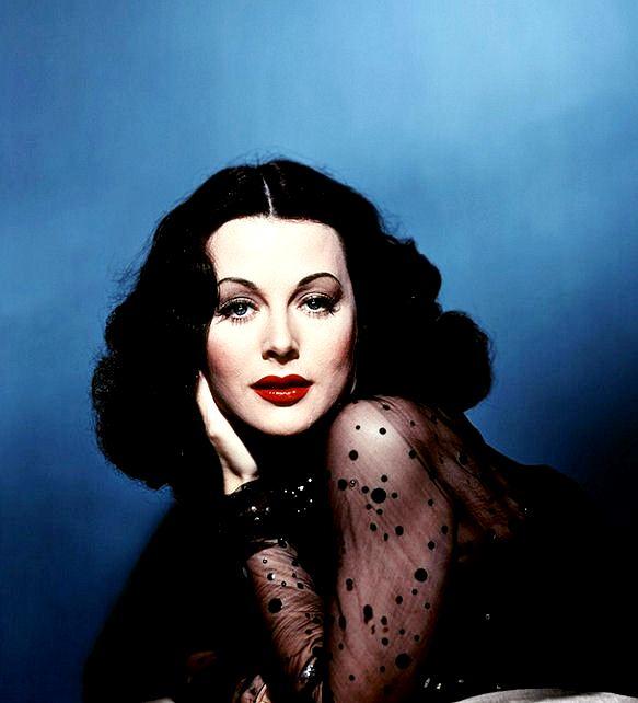 Hedy Lamarr colorized 1940s