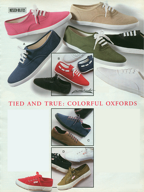 sporty colorful Oxfords 90s fashion