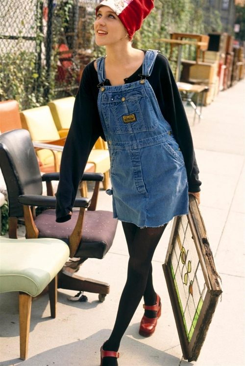 Chloe Sevigny in dungarees