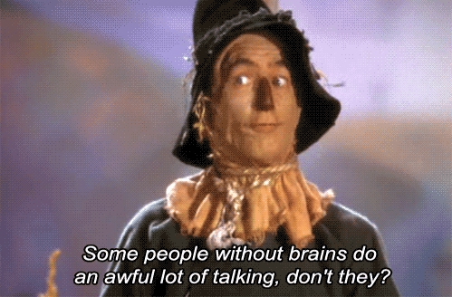 Wizard of Oz quote about brains