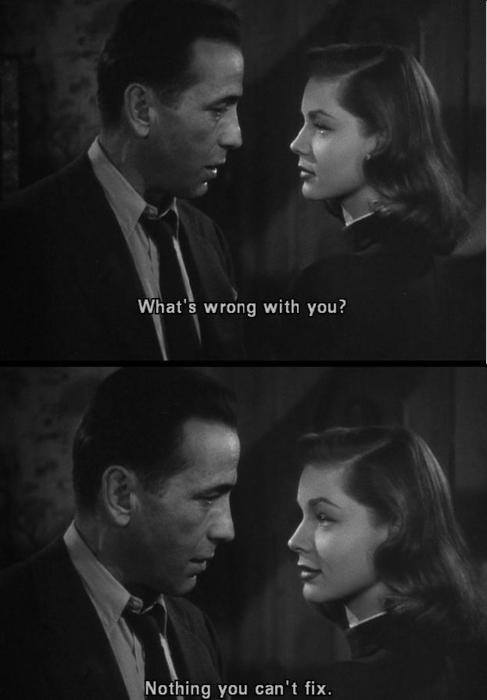 The Big Sleep quote from Humphrey Bogart and Lauren Bacall