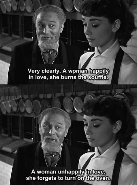 Sabrina quote with Audrey Hepburn