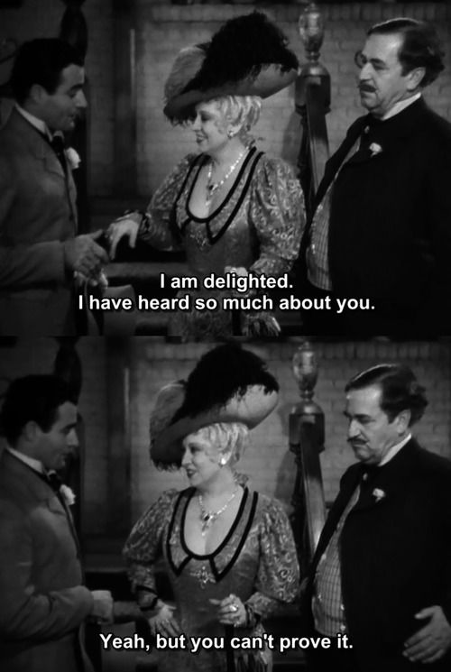She done him wrong Mae West quote