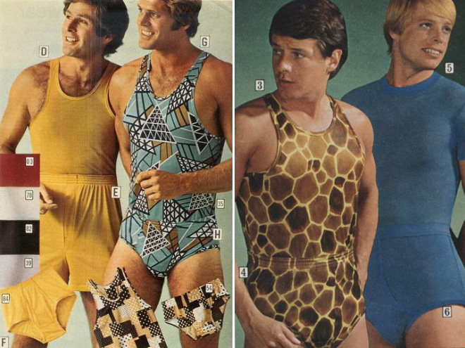 Men's 1970s fashion ad