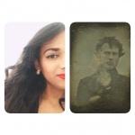 selfie vintage meets present