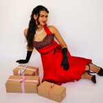 Pinup retro fashion Oriental Spice and some Chocolate by Empire Elegance and Valerie Cash