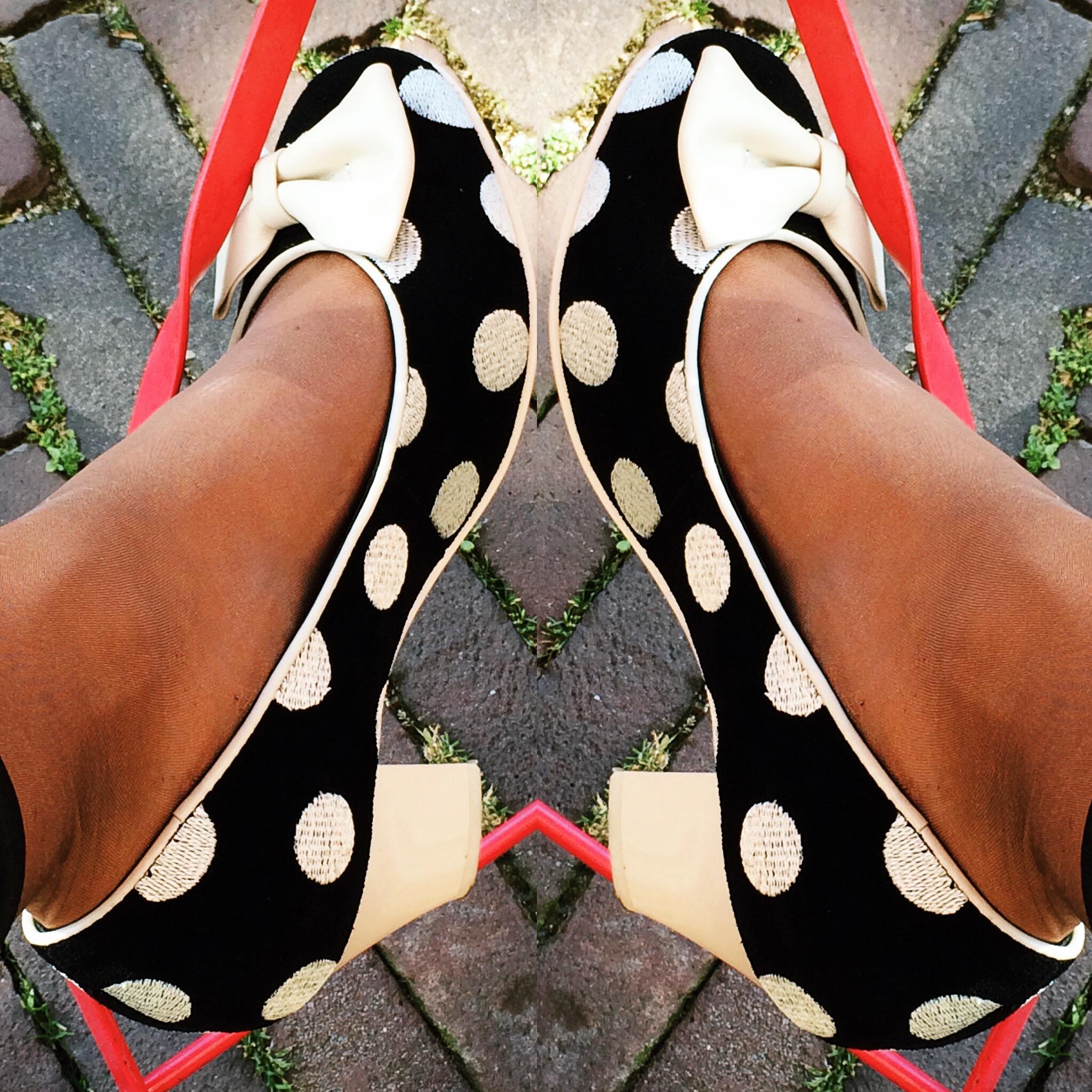 Lola Ramona polkadot heels