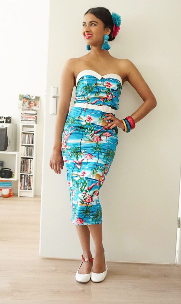 Collectif summer dress vintage style out of office