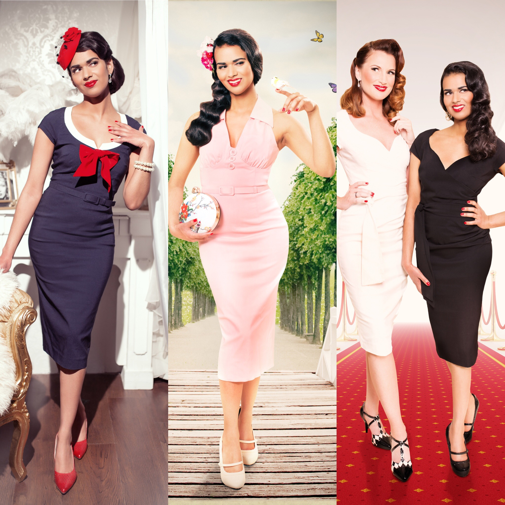 Vintage Diva photoshoot Hamburg end results merged