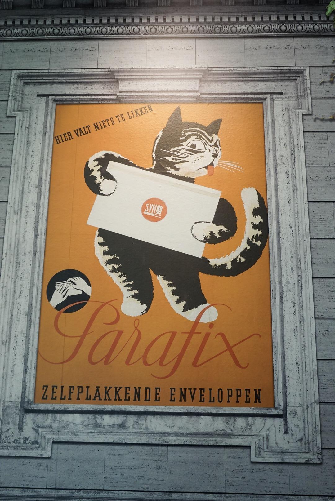 Kattenliefde exhibition zelfplakkende enveloppen