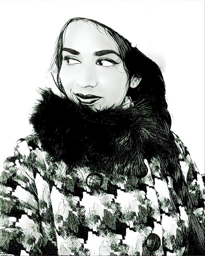 retro style winter coat