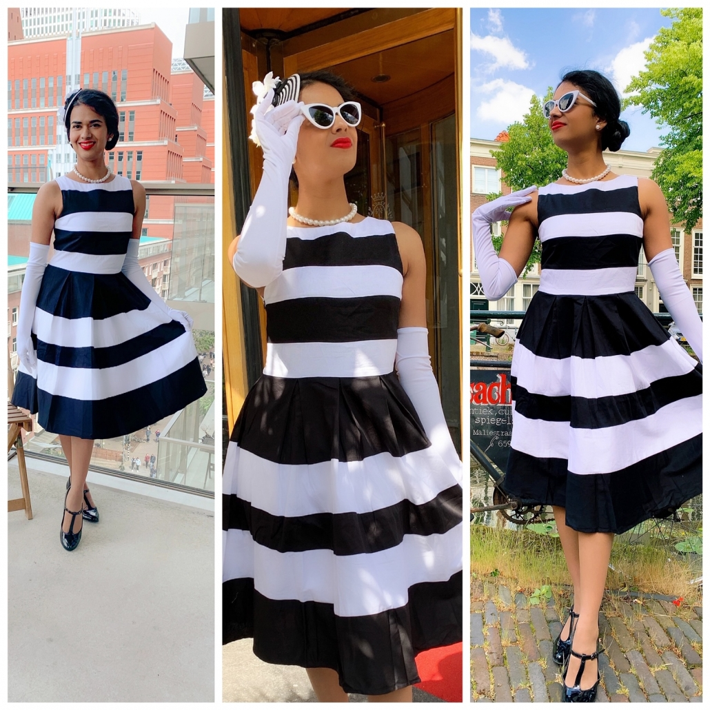 Featured image Dolly and Dotty black and white swing dress - blog