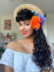 Headband curls day 4 - vintage hair - full retro glamour