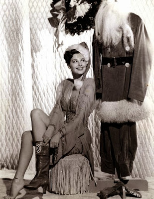 Ava Gardner with Santa
