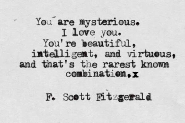 F Scott Fitzgerald Love Quotes Inspiration treat: in-...