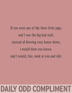 The big bad wolf daily odd compliment