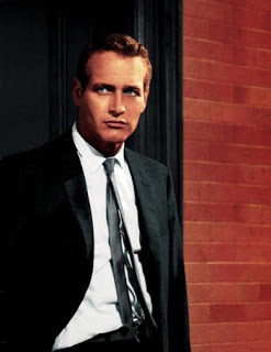 Paul Newman black suit
